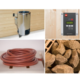 Weka Saunaofen-Set 1 inkl. 3,6 kW Ofen rund, Anschlusskabel, Saunasteine, Steuergerät