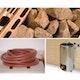 Weka Saunaofen-Set 9 inkl. 3,6 kW Kompakt Ofen rund, Anschlusskabel, Saunasteine, Steuergerät