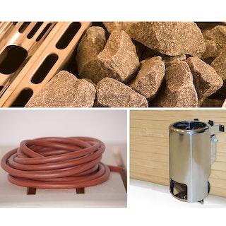 Weka Saunaofen-Set 9 inkl. 3,6 kW Kompakt Ofen rund, Anschlusskabel, Saunasteine, Steuergerät B-Ware