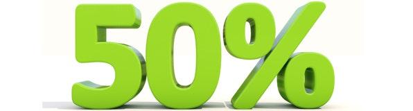 50% Rabatt auf Dachschindeln und Dachfolie!