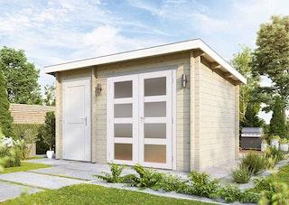 Wolff Finnhaus Gartenhaus Toulouse - Aktionsmodell inkl. gratis Fundamentanker/Pads