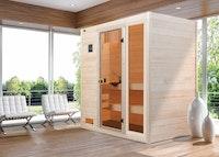 Weka Sauna Valida Gr. 2 mit Glastür + Fenster - Massivholzsauna 38 mm