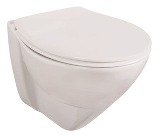 Sanitop Wand-WC-Set liDano 2.0 +6 cm, Tiefspüler, weiß