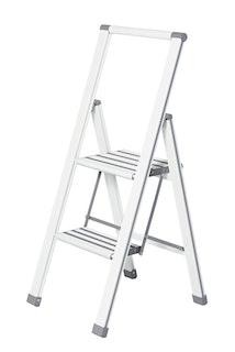 Wenko Alu-Design Klapptrittleiter 2-stufig, weiß