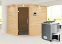 Karibu Woodfeeling Sauna Lisa - 38 mm Massivholz Aktionssauna