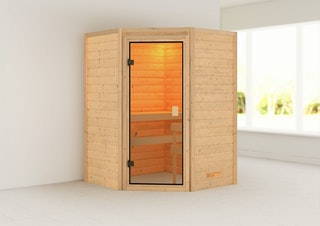 Karibu Woodfeeling Sauna Antonia - 38 mm Massivholz Aktionssauna