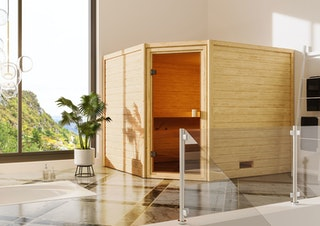 Karibu Woodfeeling Sauna Lotta - 38 mm Massivholz Aktionssauna