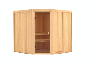 Karibu Woodfeeling Sauna Kotka - 68 mm Aktionssauna