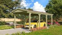 Karibu Einzelcarport Classic 2 mit Satteldach