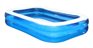 Familien Pool Transparent - Blau 262 x 175 x 51