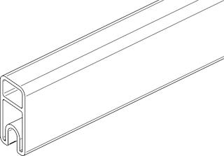 OSMO ALU-Fence Abschlussprofil 184 x 1,9 x 4,1 cm