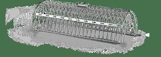 NAPOLEON Drehspieß-Korb mit zwei Kammern, Edelstahl