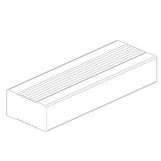 OSMO Terrassen Unterkonstruktion Bangkirai geriffelt / geriffelt