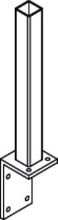 OSMO Pfostenträger für Aluminiumpfosten