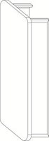 OSMO ALU-CLADDING RHOMBUS Endkappe Links VE10