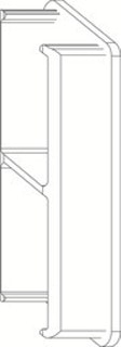 OSMO ALU-CLADDING RHOMBUS Endkappe Rechts VE10