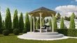 Karibu 6-Eck Pavillon Madrid kesseldruckimprägniert Sparset inkl. Dachschindeln
