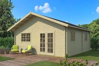 Weka Weekendhaus 703 mit Schlafboden - 70 mm