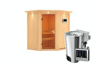 Karibu Sauna Tonja - 68 mm Systemsauna - 230 Volt Plug & Play - Sparset