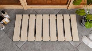 Karibu Bodenrost Premium aus Espenholz 46,5 x 100 cm