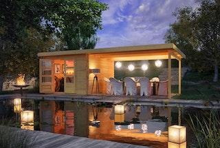 Karibu Woodfeeling Gartenhaus Bastrup 5 - 28 mm