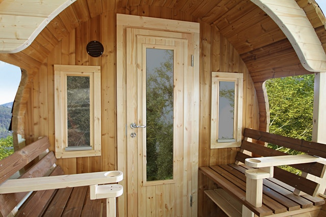Wolff Finnhaus Einzelfenster ISO (2 Stk.) für Vorderwand Saunafass ...