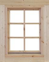Wolff Finnhaus Einzel-Fenster Lina 44/58/70 isolierverglast