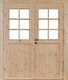 Wolff Finnhaus Doppel-Tür Hero XL 44 / 58 / 70 mm isolierverglast