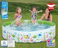 Happy People Steilwand-Pool im Ocean-Design ca. 180x38 cm