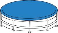Poolabdeckung, rund, mit Gummizug, PE, ca. Ø 450 cm