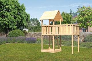 Akubi Kinderspielturm Lotti inkl. Anbauplattform XL