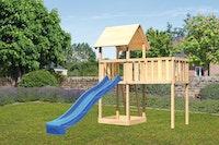 Akubi Kinderspielturm Lotti inkl. Anbauplattform XL und Rutsche