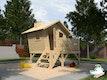 Weka Tabaluga Kinderspielhaus Lotti mit Treppe und Terrasse