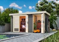 Wolff Finnhaus Gartenhaus Zeeland - Aktionsmodell inkl. gratis Fundamentanker/Pads