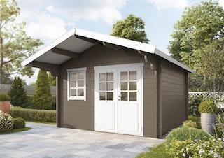 Wolff Finnhaus Blockbohlenhaus Lisa 44-A/B/C isolierverglast inkl. gratis Fundamentanker/Pads