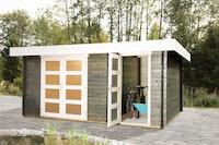 Wolff Finnhaus Gartenhaus Flachdachhaus Nancy - Aktionsmodell inkl. gratis Fundamentanker/Pads