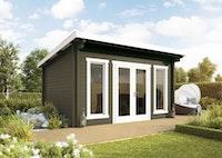 Wolff Finnhaus Gartenhaus Trondheim 44-A isolierverglast XL inkl. gratis Fundamentanker/Pads