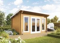 Wolff Finnhaus Gartenhaus Trondheim 44-B isolierverglast XL inkl. gratis Fundamentanker/Pads