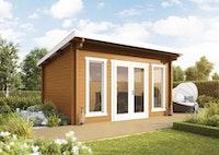 Wolff Finnhaus Gartenhaus Trondheim 44-C isolierverglast XL inkl. gratis Fundamentanker/Pads