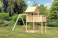 Akubi Kinderspielturm Lotti inkl. Einzelschaukel und Anbauplattform