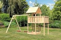 Akubi Kinderspielturm Lotti inkl. Doppelschaukel und Anbauplattform