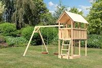 Akubi Kinderspielturm Danny inkl. Doppelschaukelanbau