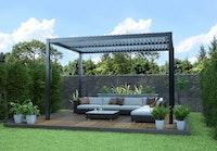 Weka Aluminium Pavillon/Pergola inkl. Lamellendach