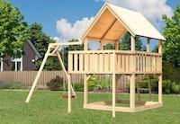 Akubi Kinderspielturm Luis mit Einzelschaukelanbau inkl. Anbauplattform