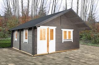 Wolff Finnhaus Gartenhaus Ferienhaus Lappland 70-A/B/C isolierverglast XL mit Schlafboden inkl. gratis Fundamentanker/Pads