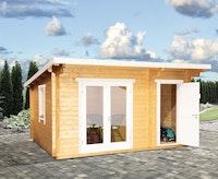 Wolff Finnhaus Gartenhaus Trondheim 70-D 2-Raum isolierverglast XL inkl. gratis Fundamentanker/Pads