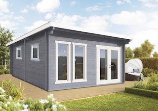 Wolff Finnhaus Gartenhaus Kiruna F XL inkl. gratis Fundamentanker/Pads