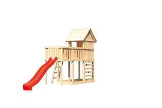 Akubi Stelzenhaus Frieda mit Wellenrutsche, Anbauplattform und Kletterwand