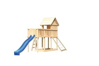 Akubi Stelzenhaus Frieda mit Wellenrutsche, Anbauplattform und Netzrampe