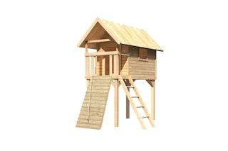 Akubi Stelzenhaus Gernegroß mit Holzrampe